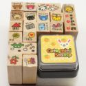 Rubber stamps, 17 pieces, (ZYZ101)